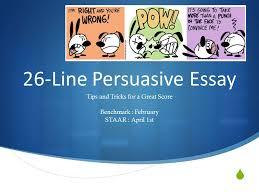line persuasive essay ppt video online  26 line persuasive essay