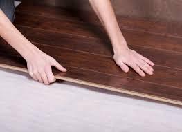 Laminate Floors Float On Top Of Underlayment.