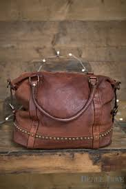 belle love italy tanned studded leather handbag in tan belle love clothing