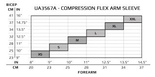2xu Compression Socks Size Chart 2xu Sleeve Compression Flex Arm Sleeve Ua3567a Single