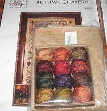 Valdani Thread Color Chart Autumn Quakers Cross Stitch Chart Valdani Thread Linen