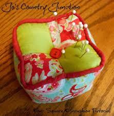 Michele Bilyeu Creates *With Heart and Hands*: Free Sewing ... & 4-Square Pin Cushion Tutorial Adamdwight.com