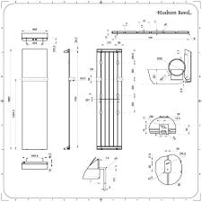 Trevi Anthracite Vertical Designer Radiator 7075 X 1775