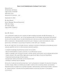 Admin Assistant Cover Letter Examples Cover Letter Example For