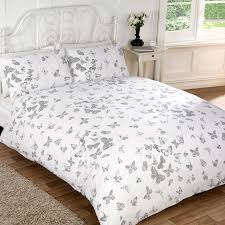 306436 306437 vintage erfly silver duvet cover