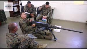 Marine Gunners Marines In Machine Gunners Course Youtube