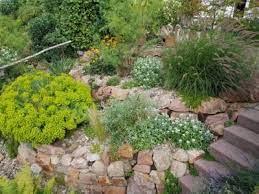 sloped rock garden design tips on