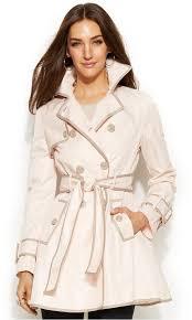 betsey johnson flared corset back trench coat