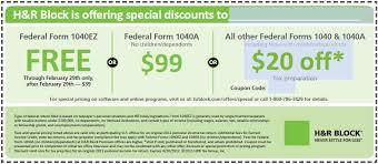 h&r block tax preparation coupons