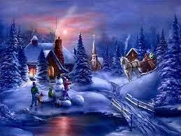 Christmas Winter Scenes Wallpaper Free ...