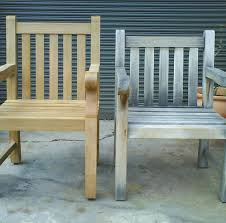 removing gray patina from teak outdoor furniture