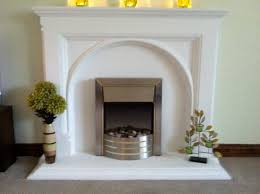 plaster arched fire surround
