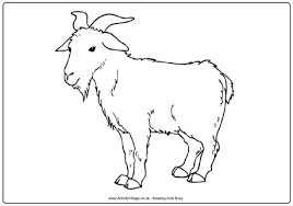 Small Picture Goat Colouring Page
