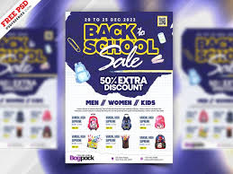 Back To School Sale Free Psd Flyer Template Psdflyer Co