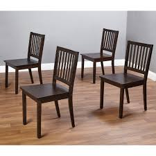 Shaker Dining Chairs Set Of 4 Espresso Walmartcom