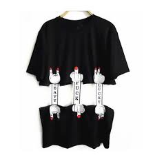 shirt cut out designs funny waist cutout punk long design short sleeve t shirt hollow