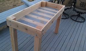 Small Picture Raised Garden Beds On Legs Gardening Ideas