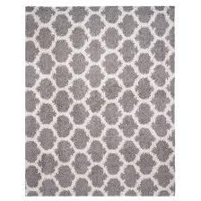 trellis decorative area rug 6 x 8 grey