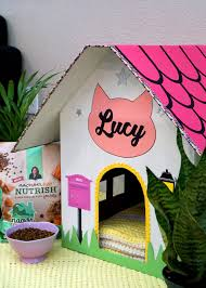 Cat House Diy Cardboard Cat House Happiness Is Homemade