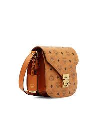 Designer Mcm Meaning Mcm Bag Cheap New York Mcm Patricia Visetos Shoulder Cognac