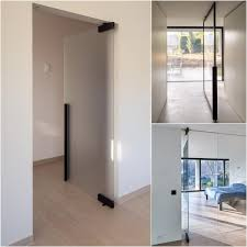 pivoting glass door partitions wall