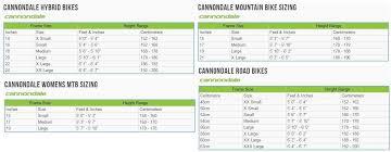 Cannondale Trail 5 Size Chart Cannondale Mtb Frame Size Guide Oceanfur23 Com