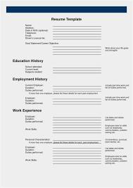 Employment History Resume 2018 Enter A Brief Description Your
