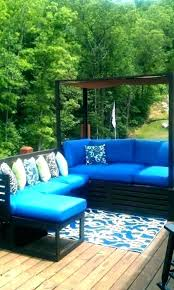 blue outdoor cushions blue white