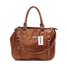 Coach Embossed Logo Medium Brown Totes DGC