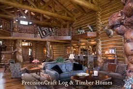 log home designers. custom handcrafted log home design | expansive great room by precisioncraft homes designers
