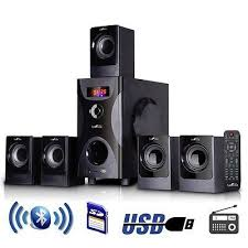 home theater music system. home theater systems: new befree sound 5.1 channel surround bluetooth speaker system in black music