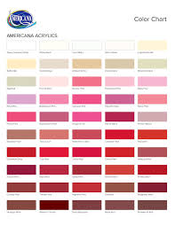 Decoart Americana Acrylic Paint Color Chart Decoart Americana Color Chart Best Picture Of Chart
