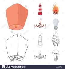 Ein Licht Laterne Einen Leuchtturm Ein Feuer Ein