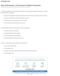 quiz worksheet frankenstein chapter synopsis com print frankenstein chapter 8 summary worksheet