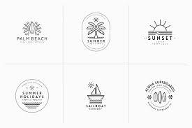 Templates For Logo Minimal Summer Logo Templates