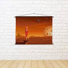 artzfolio cartoon spaceship landing