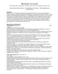 Resume Objective Management Project Management Good Resume Objective