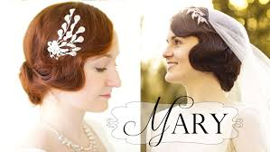 20s Hair Style downton abbey hair tutorial marys 20s faux bob wedding style 5431 by wearticles.com