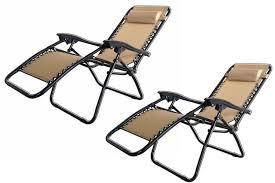 2x palm springs zero gravity chairs lounge outdoor yard patio chairs beach black com