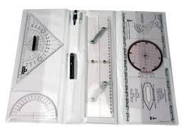 Nautical Nautical Chart Tools Set