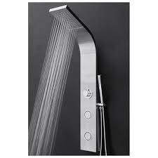 akdy 39 shower panel tower handheld shower head wand spray wall mount rainfall system