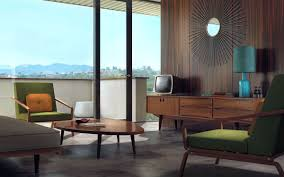 Living room / mid-century modern interior design & decor / Neutral /  chevron wood floors and lovely pendants
