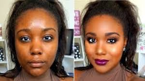 dramatic summer night makeup tutorial i flawless foundation routine for black women dark skin nowchic