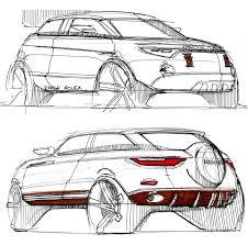 Exterior Car Body Design Range Rover Evoque Exterior Leather Design Sketch By