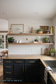 Shelves In Kitchen Kitchen Reveal With Dark Cabinets And Open Shelving Bigger Than