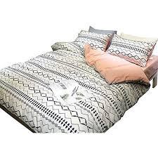 details about 3 duvet cover sets piece striped twin boys girls white blue cotton 100 percent 4