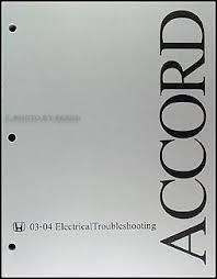2003 2004 honda accord electrical troubleshooting manual original