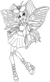A Coloring Page Of Luna Mothews