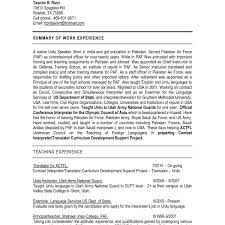 Interpreter Resume Sample Fresh Translator Resume Samples Best