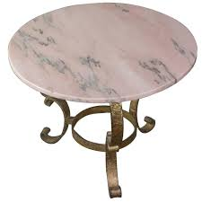 small round coffee table with marble top for